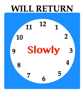 will return slowly sign