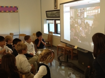 1st Graders Excited to Skype with a class in Canada