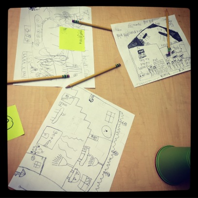 Students Sketch Plans for their Lunchrooms