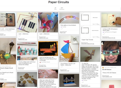 My Paper Circuit Pinterest Board